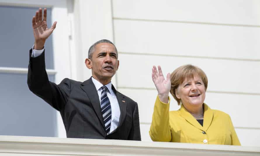 Barack Obama and Angela Merkel in Hanover in April