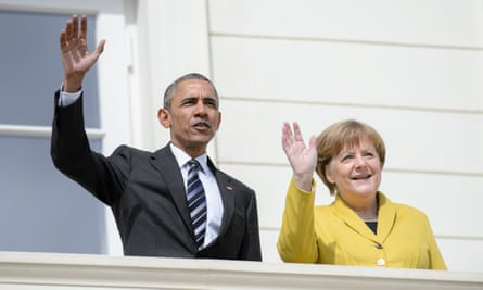 US president Barack Obama paid tribute to the way the German chancellor Angela Merkel had managed the refugee crisis in Europe.