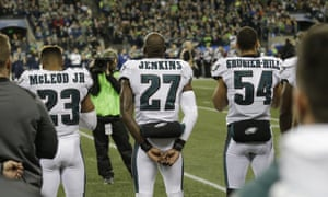 Donald Trump attacked the Philadelphia Eagles for not respecting the anthem, despite the fact that they stood while it was played last season
