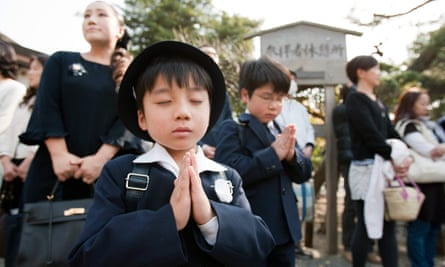 Memorial prayers for the relief of the Tohoku victims one month after the disaster.