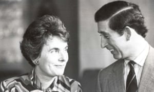 Countess Mountbatten of Burma with the Prince of Wales in 1980. She was related to many of the royal families of Europe.