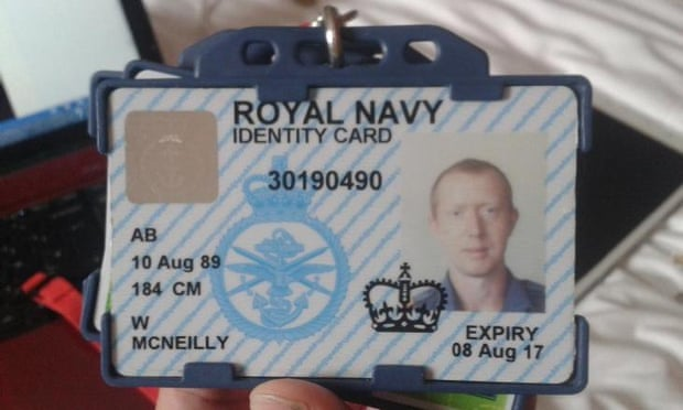 William McNeilly's Royal Navy identity card