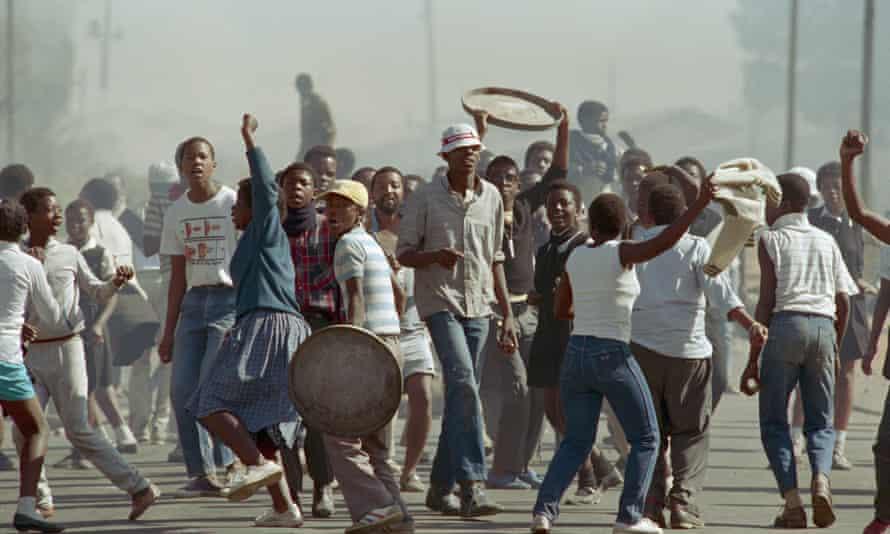 Black Students Protesting Apartheid