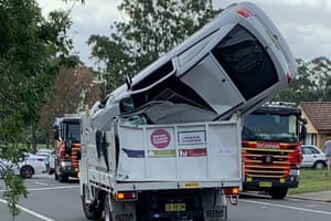 Sydney, Australia A driver has escaped with minor injuries