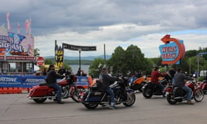For much of the summer, Laconia, New Hampshire's Weirs Beach is a nostalgia-laden lakeside promenade. But for one week every June, it is transformed by the arrival of tens of thousands of bikers.