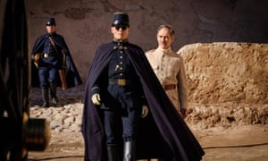 Johnny Depp and Mark Rylance in Waiting for the Barbarians.