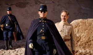 Trouble brewing … Johnny Depp and Mark Rylance in Waiting for the Barbarians.