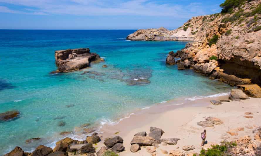 Cala Tarida beach in Ibiza Balearic Islands