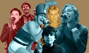 Composite of Darren Hayes, Bernard Fanning, Megan Washington, Lindy Morrison, Chris Bailey and Patience Hodgson