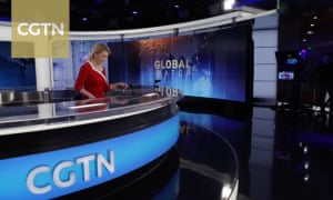Newsreader on China Global Television Network.