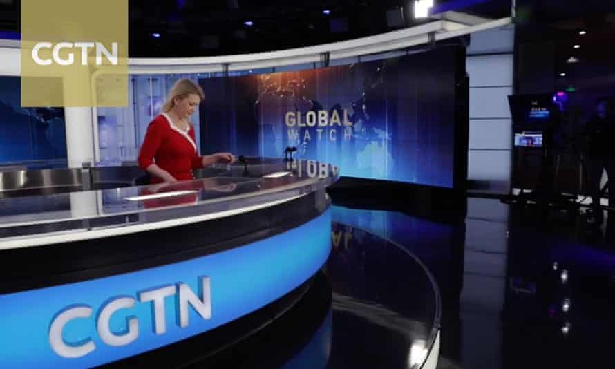 Newsreader on China Global Television Network.