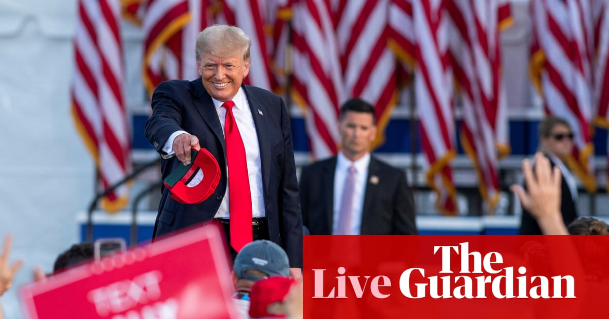 Trump and Barr exchange fire over voter fraud lies – US politics live