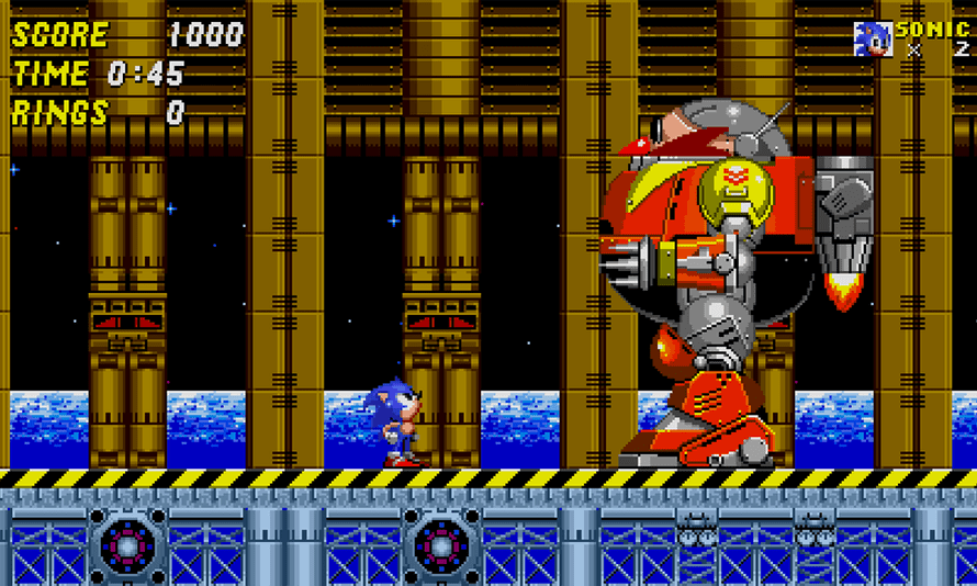 Sonic the Hedgehog 2 looks beautifully crisp and fresh on the Sega Sg, rendering each pixel with a new clarity