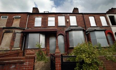 Derelict houses in Salford