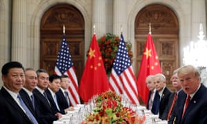 Trump and the Chinese president, Xi Jinping, meet after the G20 summit in December