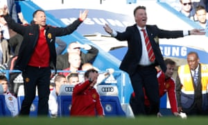 Ryan Giggs with Louis van Gaal at Chelsea in April 2015. 'After working with Louis, I felt more than prepared,' Giggs says.