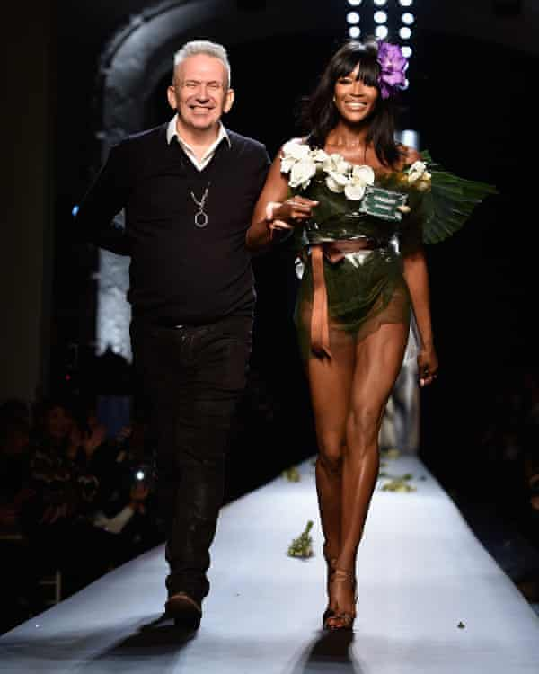 Gaultier and model Naomi Campbell in 2015.