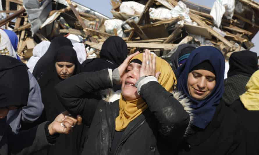 Bedouin women in Umm al-Hiran.