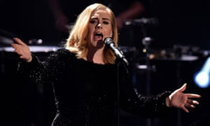 Commanding the stage: Adele performs in Germany.