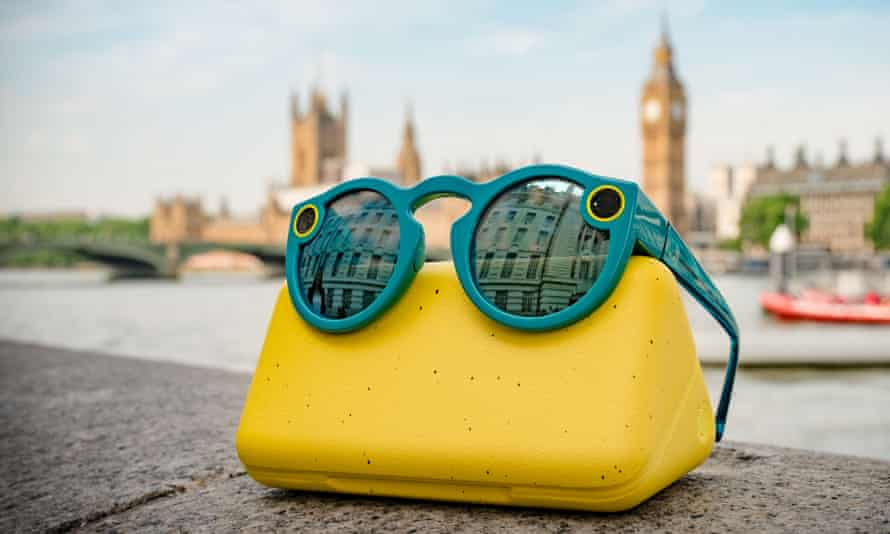 A pair of Snapchat spectacles