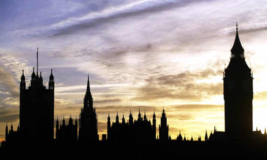The Houses of Parliament in Westminster, London.