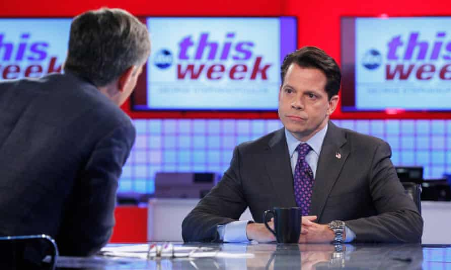 Anthony Scaramucci interviewed by George Stephanopoulos on ABC TV.