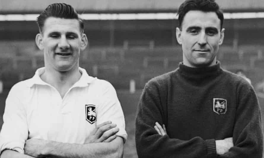 Joe Marston, on the left alongside Tommy Thompson, played for Preston North End during a hugely successful five-year period in the 1950s.