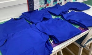 Finished scrubs at From Rags to Stitches in Rotherham.