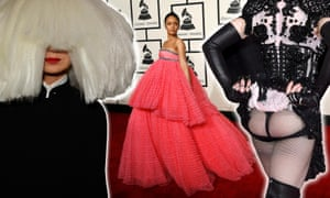 Composite of Sia, Rihanna and Madonna at the Grammys.