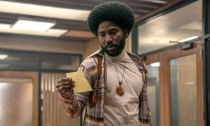 John David Washington in BlacKkKlansman, directed by Spike Lee.