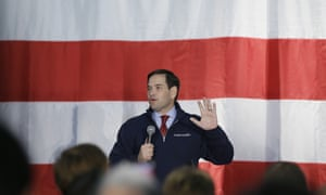 Marco Rubio addresses supporters in Waterford Township, Michigan.