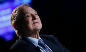 George Soros at the World Economic Forum in Davos.