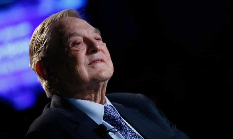 George Soros at the World Economic Forum in Davos.