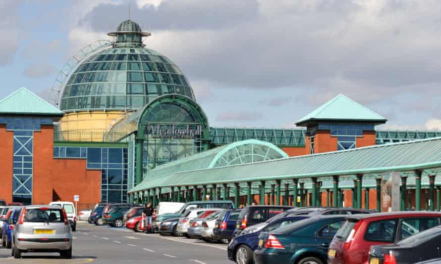 Meadowhall shopping centre main entrance and car park, Sheffield
