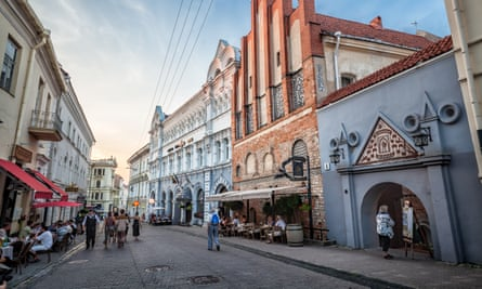Vilnius old town: Trump's rise has left the country wondering if the US will keep its promises.
