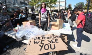 A Jordan Peterson protest at the University of Toronto after the release of his video series attacking 'political correctness' in academia