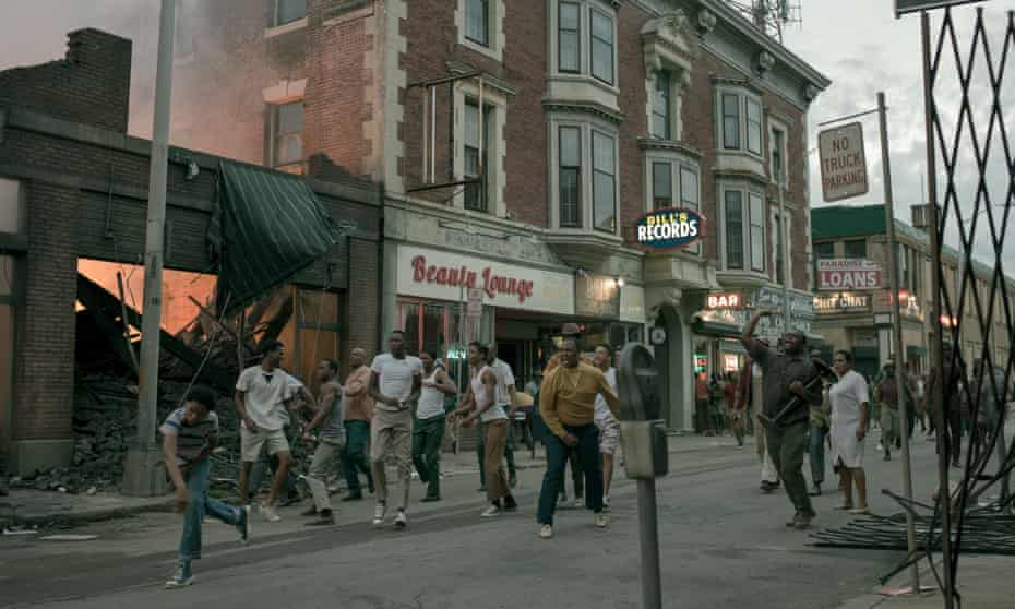 An image from Kathryn Bigelow's new film Detroit, which some critics say mischaracterises the city.