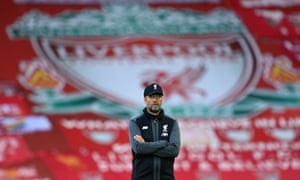 Liverpool FC v Crystal Palace - Premier League<br>LIVERPOOL, ENGLAND - JUNE 24:  Liverpool manager Jurgen Klopp looks on prior to the Premier League match between Liverpool FC and Crystal Palace at Anfield on June 24, 2020 in Liverpool, England. (Photo by Shaun Botterill/Getty Images)