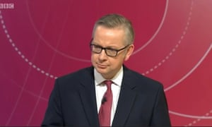 Michael Gove on Question Time