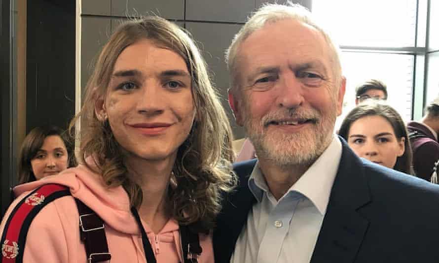Lily Madigan with Jeremy Corbyn