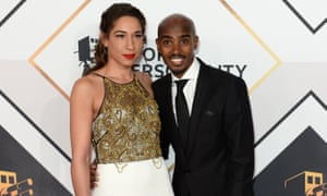 Mo Farah and his wife, Tania Nell.