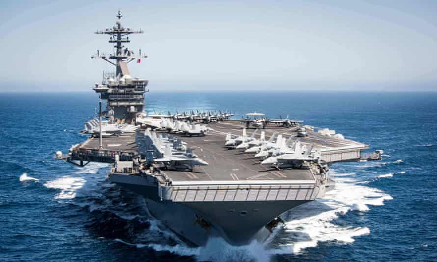 the aircraft carrier USS Theodore Roosevelt