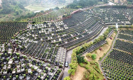 Tombs are prepared in Fuzhou, Fujian province, ahead of China's qingming jie, or tomb-sweeping festival, on Friday.