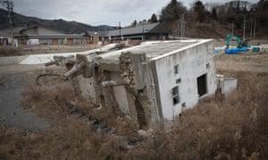 The destroyed Onagawa police station.