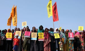 Protesters in Bangladesh protesting for justice for climate refugees