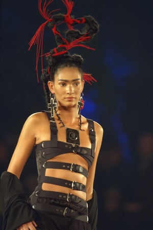 From Jean Paul Gaultier's spring 1998 collection, heavily inspired by Kahlo.