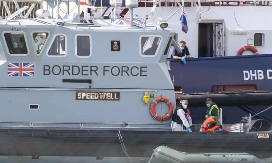 Border Force boat at Dover