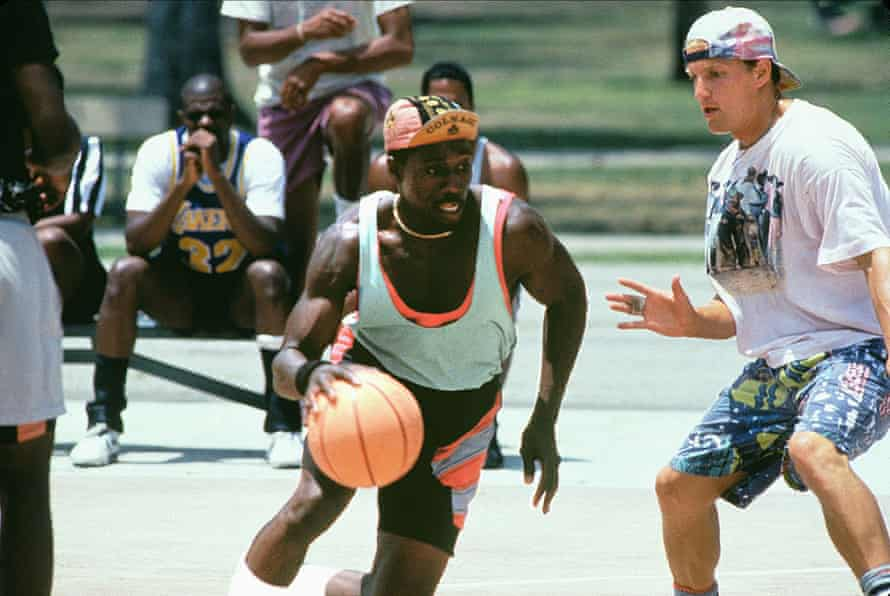 With Woody Harrelson in White Men Can't Jump.