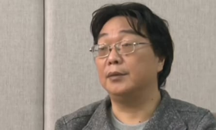 Footage from Chinese state broadcaster CCTV shows Gui Minhai speaking in an interview
