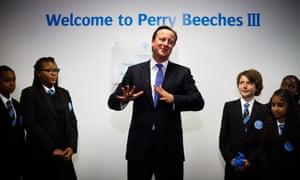 David Cameron at Perry Beeches